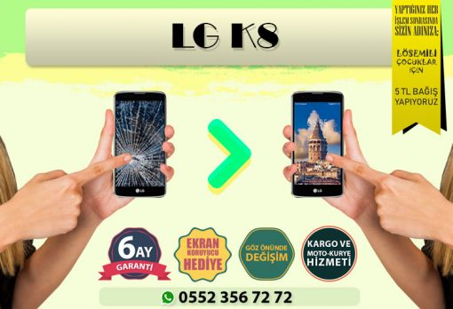 lg k8 ekran değişimi ve ekran tamiri fiyatı kadıköy cep dünyası