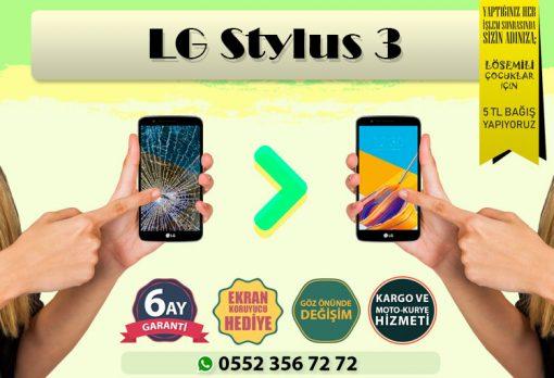 lg sytlus 3 ekran değişimi ve ekran tamiri fiyatı kadıköy cep dünyası